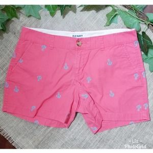 Old Navy | Anchor Embroidered Pink Shorts